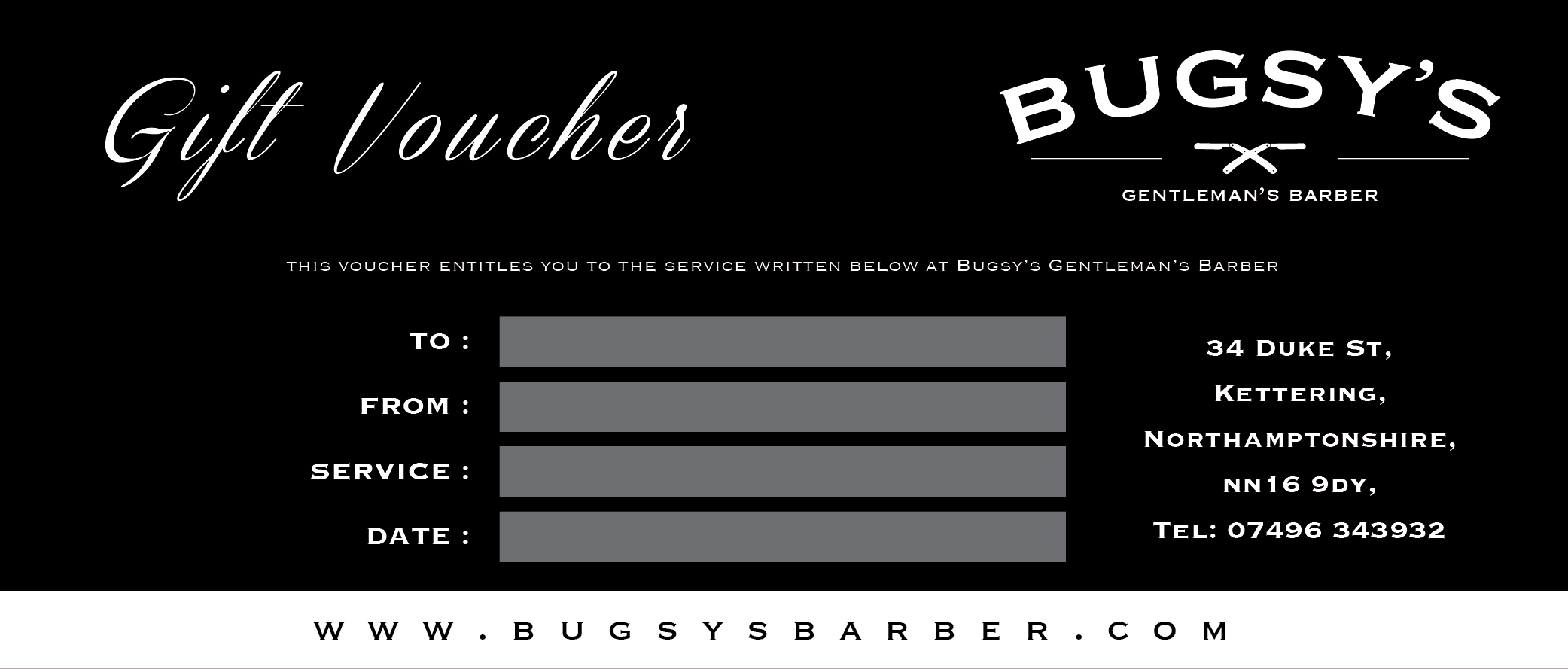 haircut gift certificate bugsys barber gift vouchers mens haircuts in kettering 5638