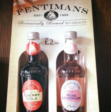 fentimans drinks at the barbers kettering