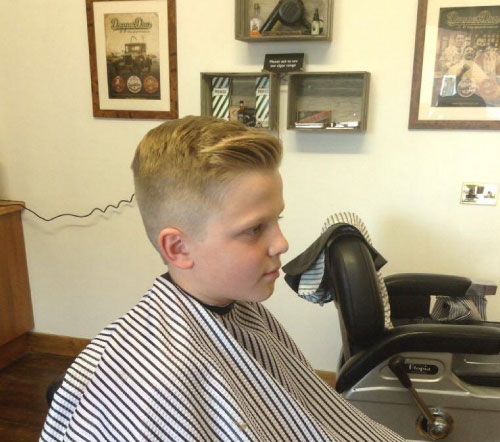 boys haircut combover quiff kettering barbershop