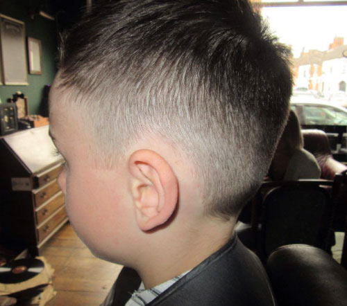boys haircut fade kettering barbershop