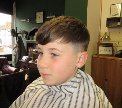boys haircut fringe cut kettering barbershop
