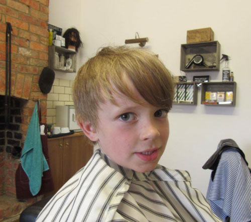 boys haircut long hair kettering barbershop