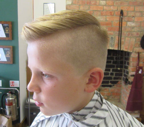 boys haircut slick hair kettering barbershop