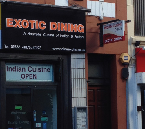 exotic dining indian food curry kettering