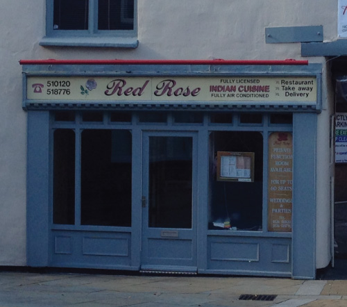 the red rose Indian curry house restaurant Kettering
